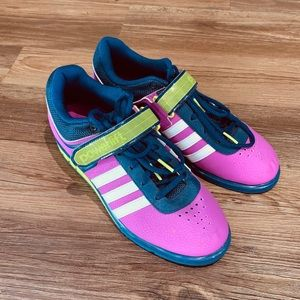 Adidas Purple, Green and Blue Powerlift Shoes